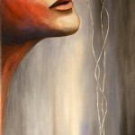 Acrylic and Mixed Media on Canvas, 12x24 inches, 2011. Sold.