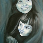 Systrar M & I. Acrylic on Canvas. 2012.