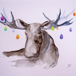 Eastermoose 1, watercolor 2015. Sold